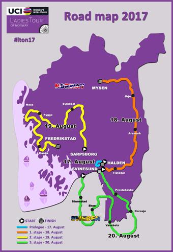 Stages Ladies Tour Of Norway - Norway map fredrikstad
