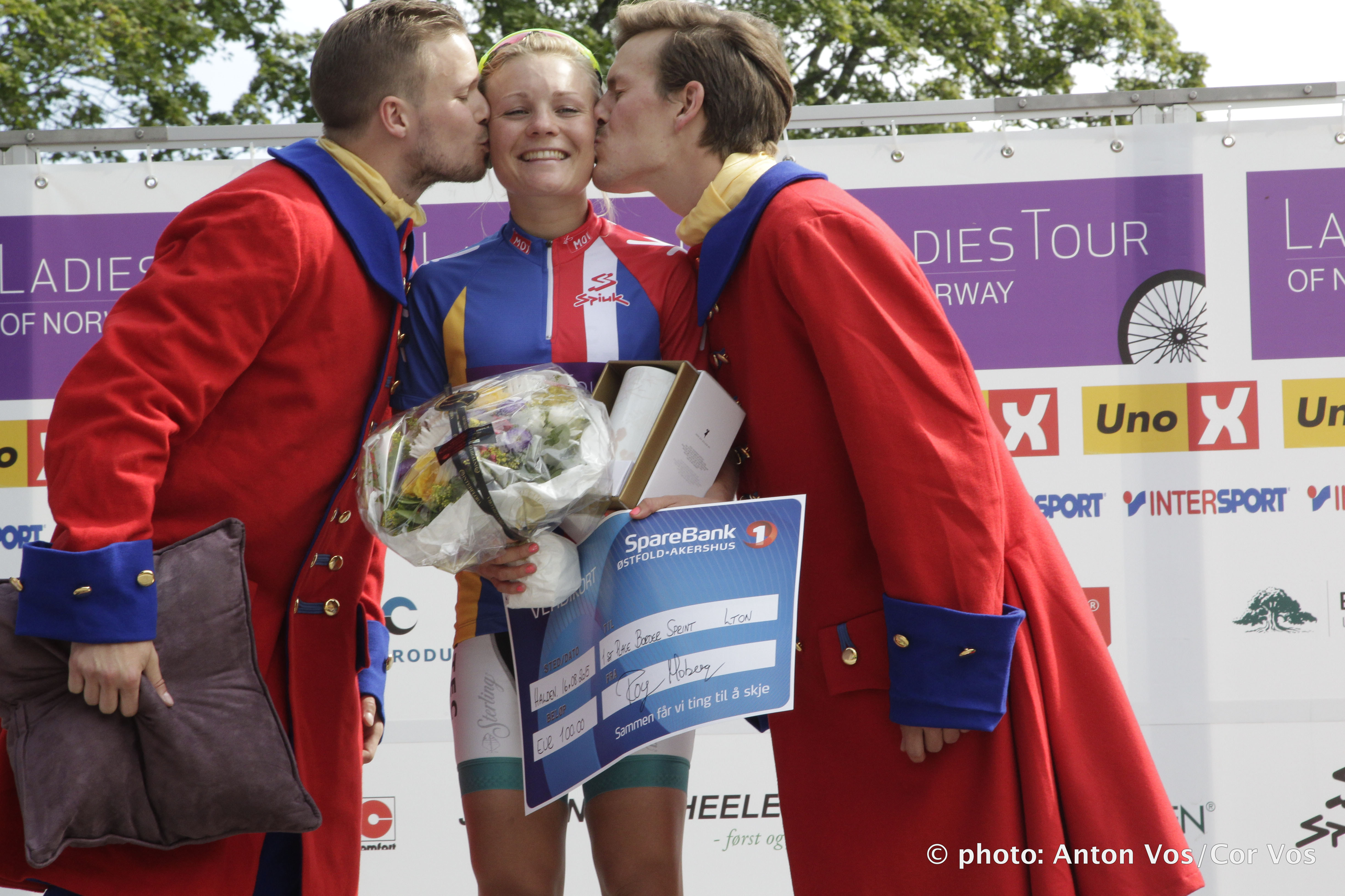Halden - Norway - wielrennen - cycling - radsport - cyclisme -  Moberg Emilie of Hitec Products  pictured during  stage - 2 of the Ladiestour of Norway 2015 - photo Anton Vos/Cor Vos © 2015
